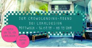 Crowdlending für LokalDesign mit finmar