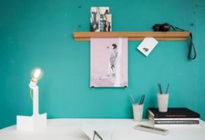 Bilderleiste mit Schreibtisch von Lokaldesign